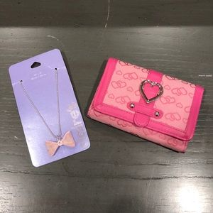 Girl's Wallet & Necklace